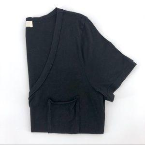 Anthropologie t.la Pocket Tee Black Cotton Shirt